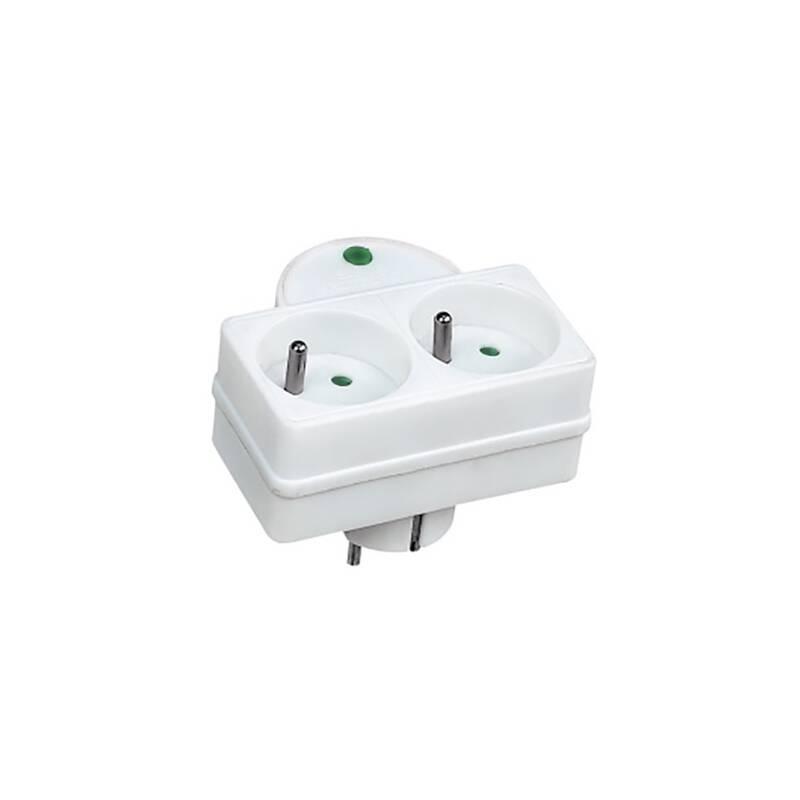 Přepěťová ochrana Solight 2x zásuvka, kontrolka (PO27) bílá