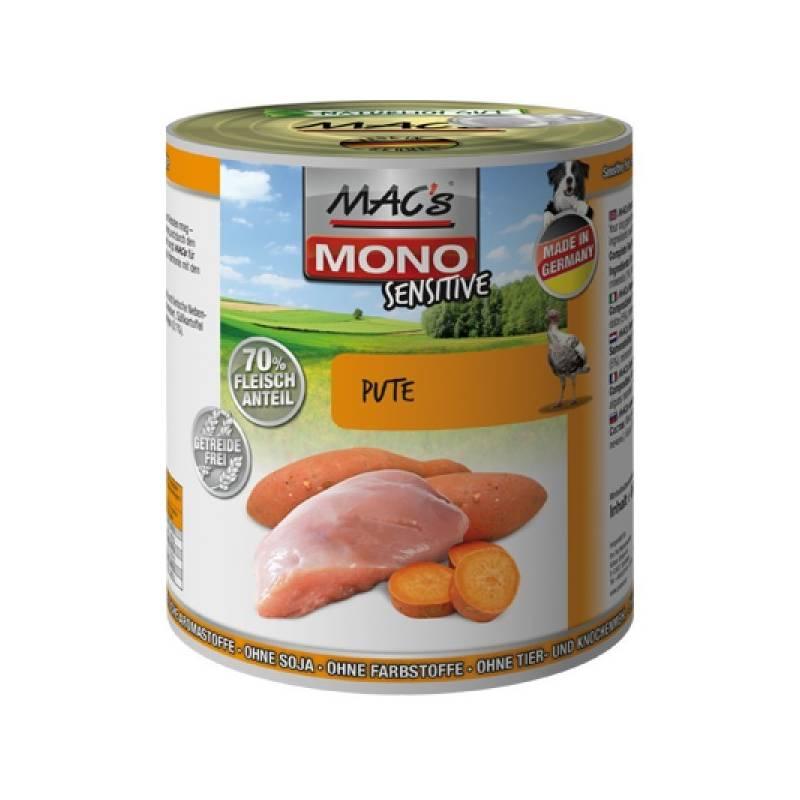 Konzerva MACs Dog MONO Sensitive krůta 400g