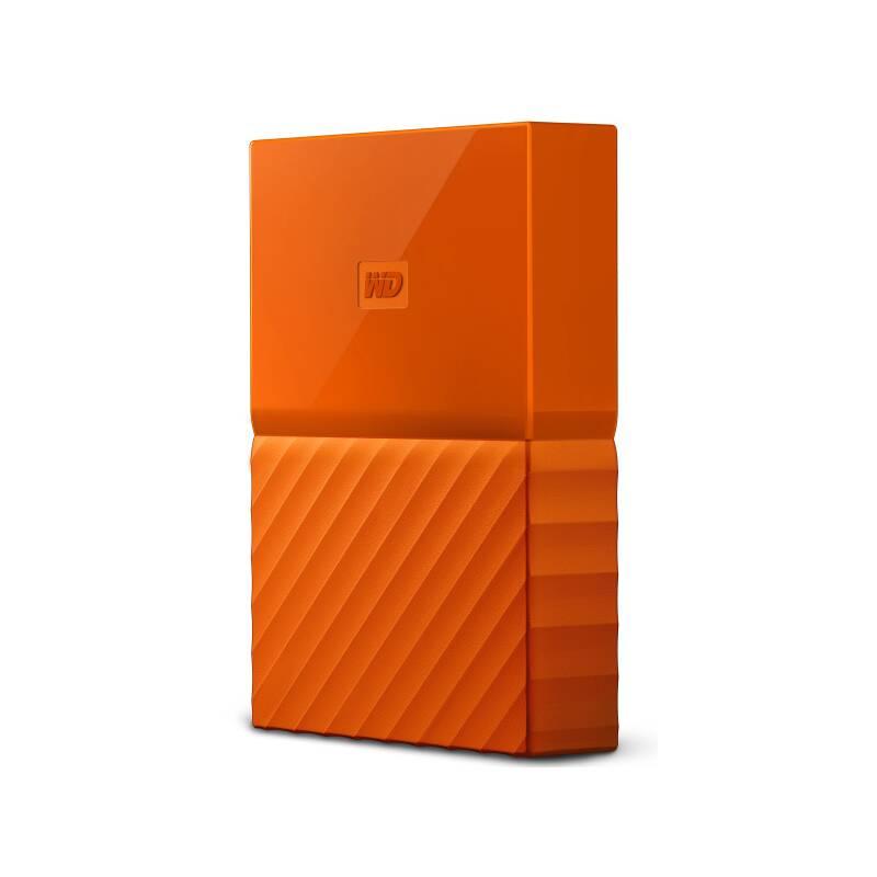 Externý pevný disk Western Digital My Passport 2TB, USB 3.1 (WDBS4B0020BOR-WESN) oranžový