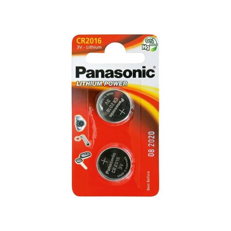 Batéria lítiová Panasonic CR2016, blistr 2ks (CR-2016EL/2B)