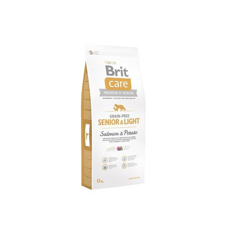 Granule Brit Care Grain-free Senior&Light Salmon & Potato 12 kg