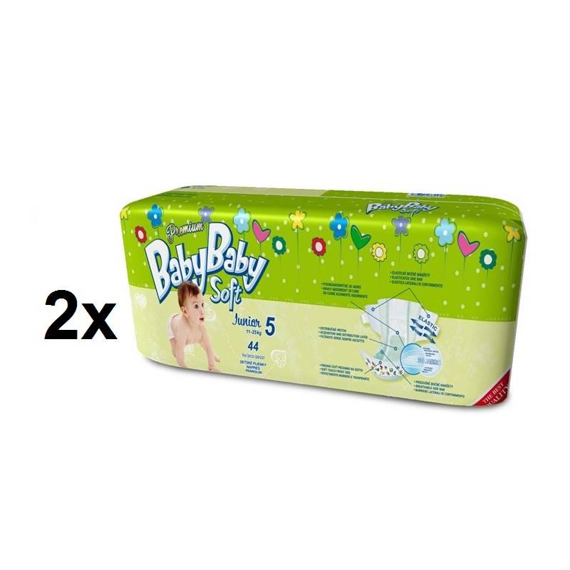Plienky BabyBaby Soft Premium JUNIOR 88 ks - 12-25kg zelená