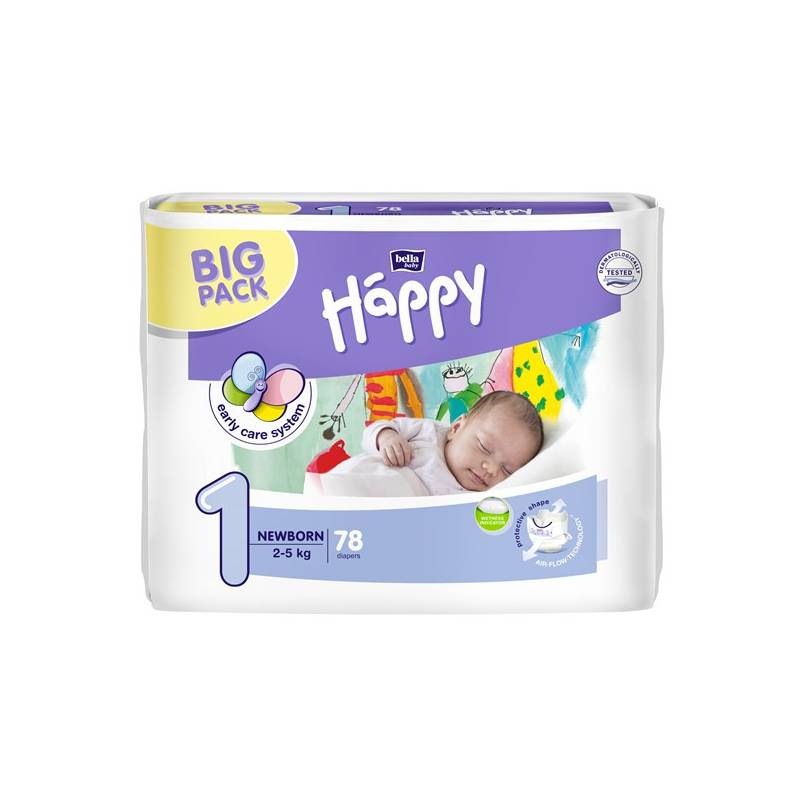 Plienky Bella Baby Happy New Born Big Pack 78 ks