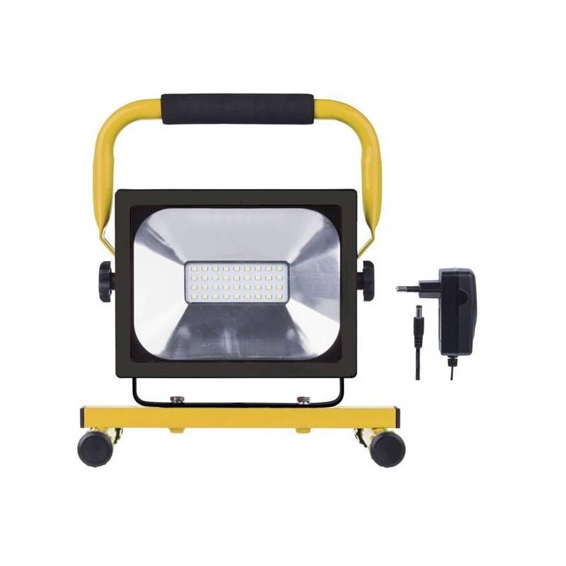 LED reflektor EMOS 20W, studená bílá, 1500lm, přenosný, akumulátorový (1531281020) žltý + Doprava zadarmo