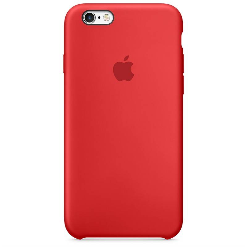 Kryt na mobil Apple Silicone Case pro iPhone 6/6s (PRODUCT)RED™ (MKY32ZM/A) červený