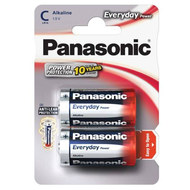 Baterie alkalická Panasonic Everyday Power C, LR14, blistr 2ks (268255)