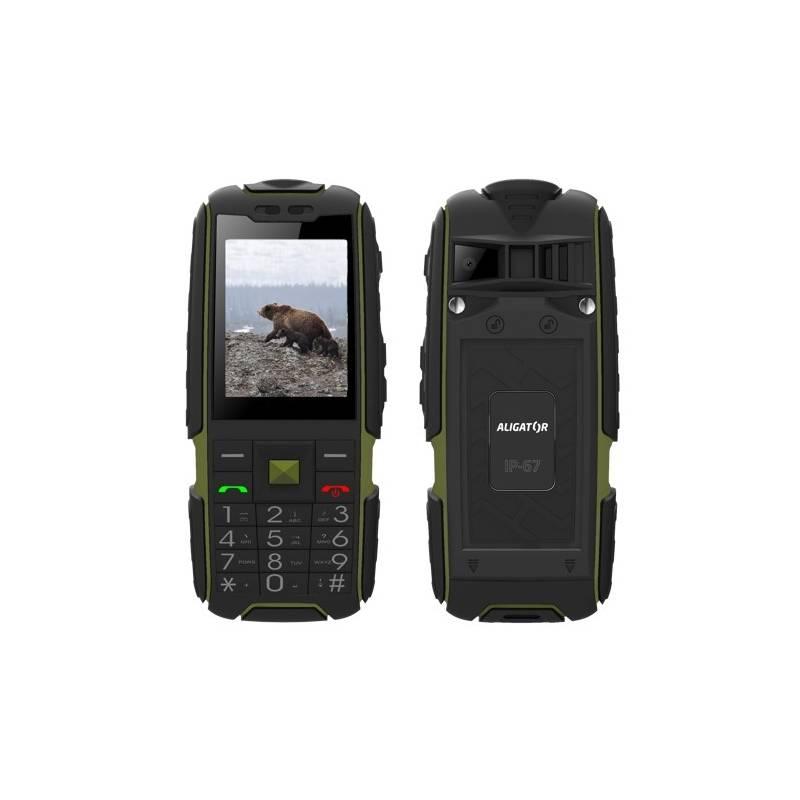 Mobilný telefón Aligator R20 eXtremo (AR20BGN) čierny/zelený