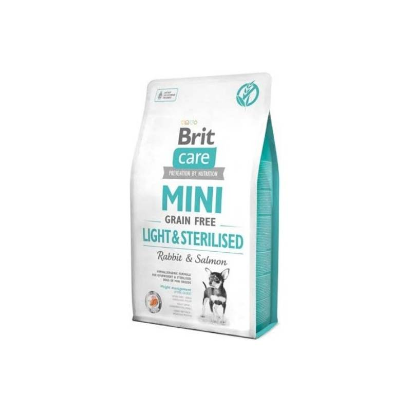 Granule Brit Care Dog Mini Grain Free Light & Sterilised 7 kg + Antiparazitní obojek Scalibor Protectorband pro psy - 48 cm v hodnote 12.00 €
