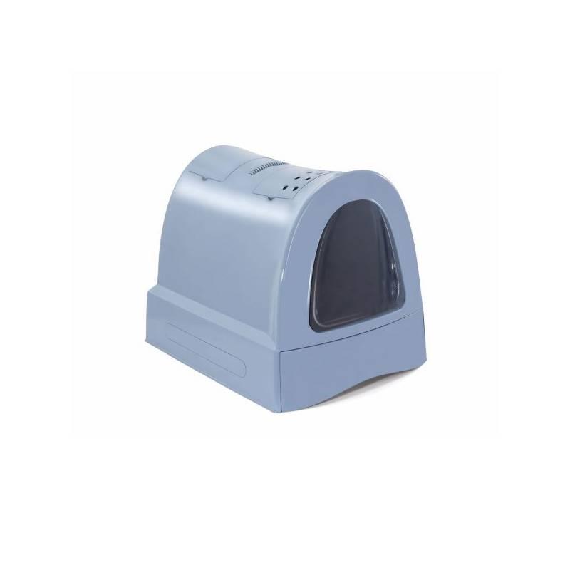 Krytý mačací záchod Argi s výsuvnou zásuvkou pre podstielku 40 x 56 x 42,5 cm - modrá