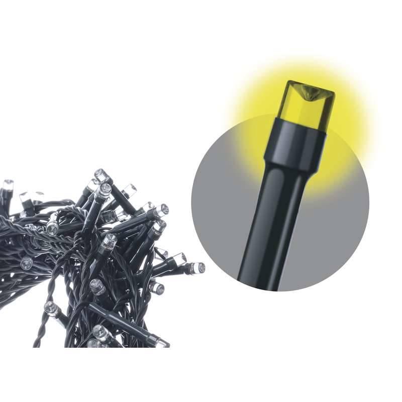 Vánoční osvětlení EMOS 180 LED, 18m, řetěz, teplá bílá, časovač, i venkovní použití (1534170045)