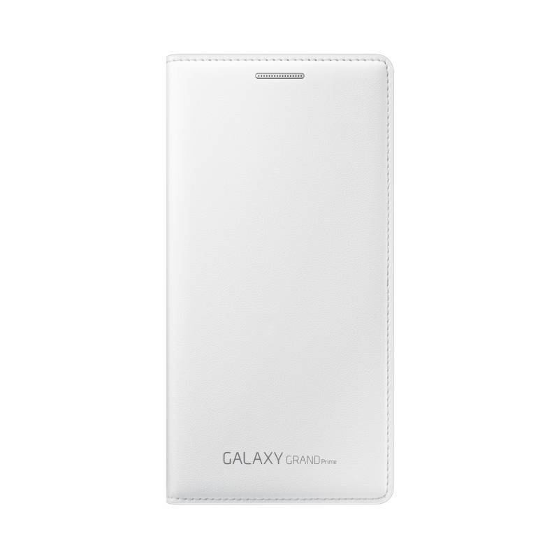 Puzdro na mobil flipové Samsung s kapsou pro Galaxy Grand Prime (EF-WG530B) (EF-WG530BWEGWW) biele