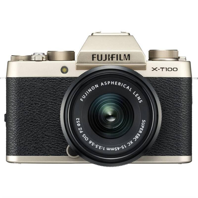 Digitální fotoaparát Fujifilm X-T100 + XC15-45 černý/zlatý