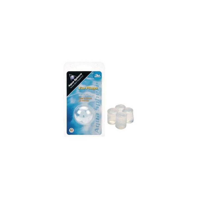 Ucpávky do uší Aqua Sphere špunty (4 ks), transparentní