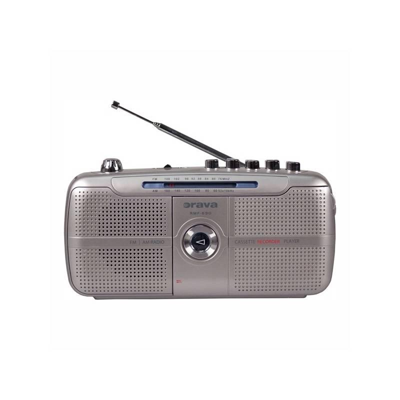 Rádiomagnetofón Orava SK RMF-690 sivý