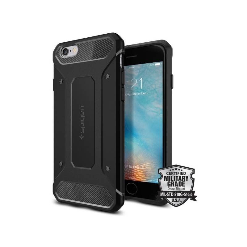 Kryt na mobil Spigen Rugged Armor Apple iPhone 6/6s (SGP11597) čierny