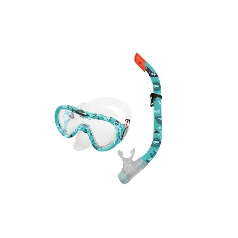 Šnorchlovací set Spokey TAHITI JUNIOR brýle + šnorchl modrý vodní svět + Doprava zadarmo