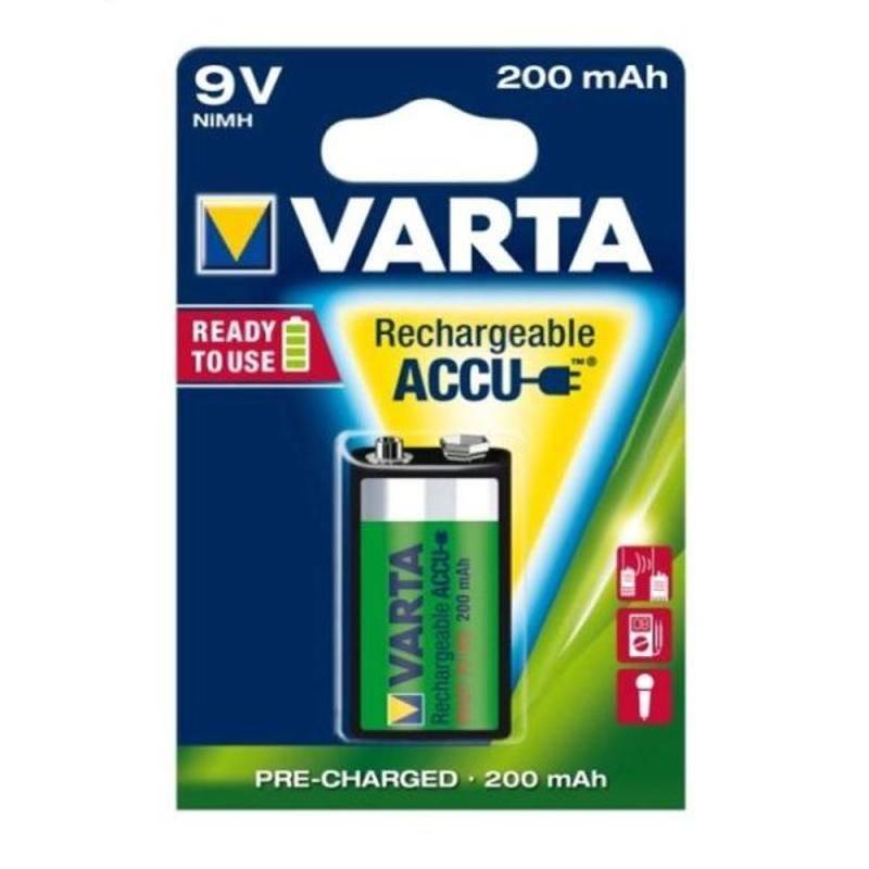 Batéria nabíjacie Varta Rechargeable Accu, 9V, 200 mAh