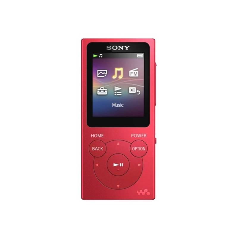 MP3 prehrávač Sony NWE393R červený