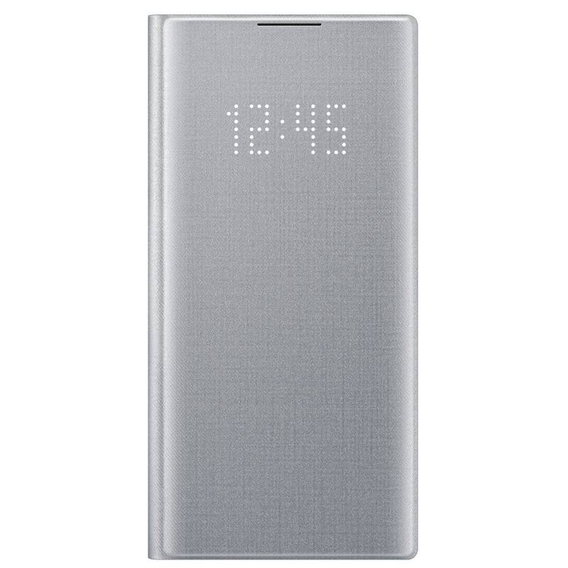 Púzdro na mobil flipové Samsung LED View na Galaxy Note10 (EF-NN970PSEGWW) strieborné