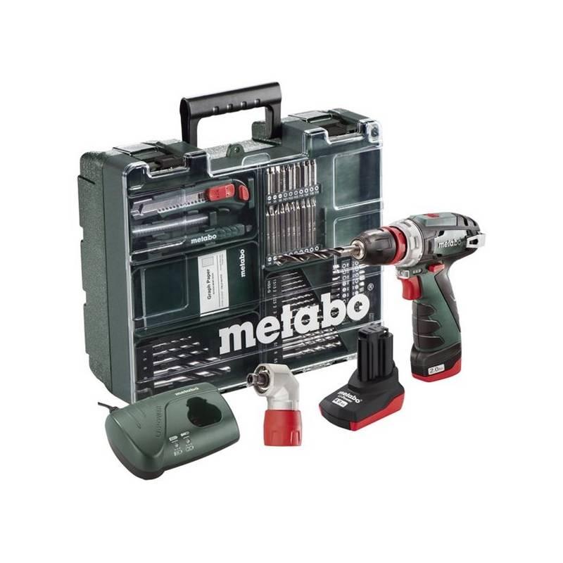Aku vŕtačka Metabo PowerMaxx BS Quick Pro MD 1x2Ah zelená