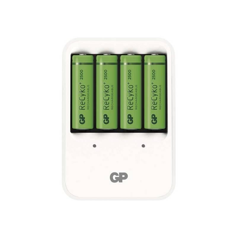 Nabíjačka GP PB420 pro AA, AAA + 4x AA ReCyko+ (2500mAh) (1604142000) biela
