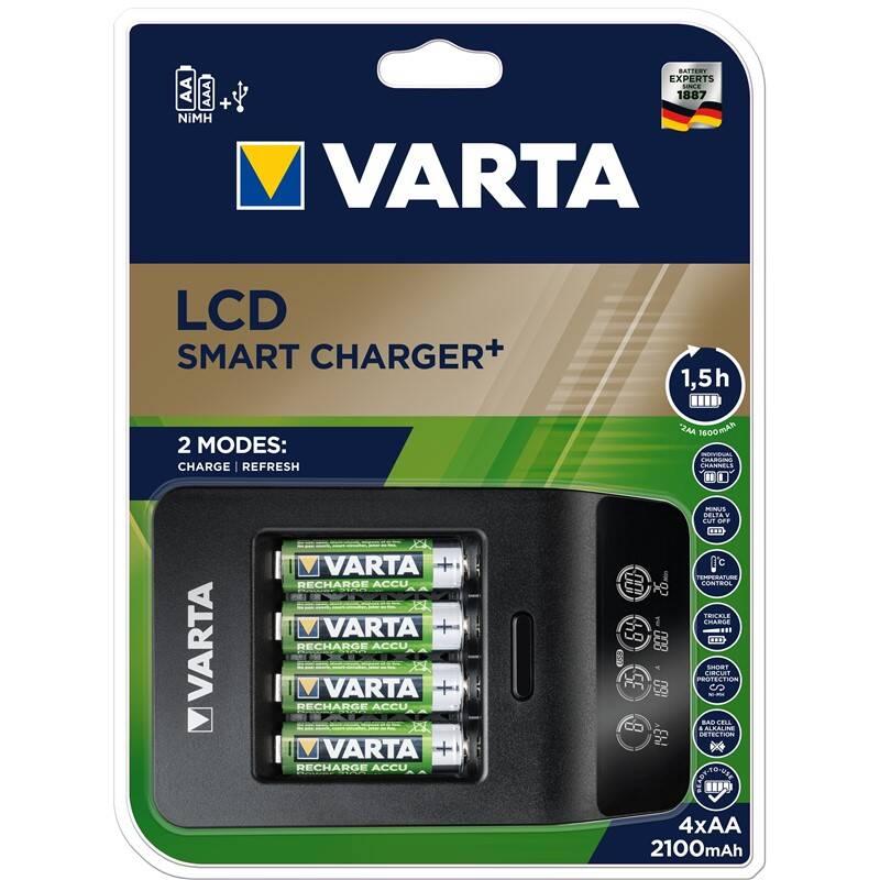 Nabíjačka Varta LCD Smart Charger+ 4x AA 2100mAh (57684101441) + Doprava zadarmo