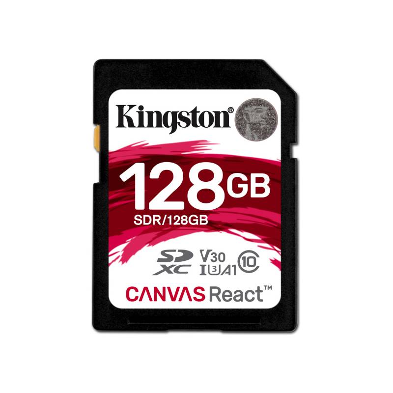 Pamäťová karta Kingston Canvas React SDXC 128GB UHS-I U3 (100R/80W) (SDR/128GB)