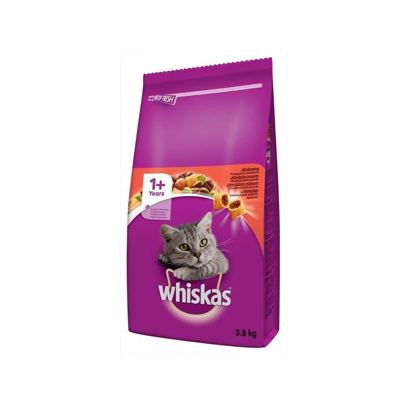 Granule Whiskas s hovězím masem 3,8 kg