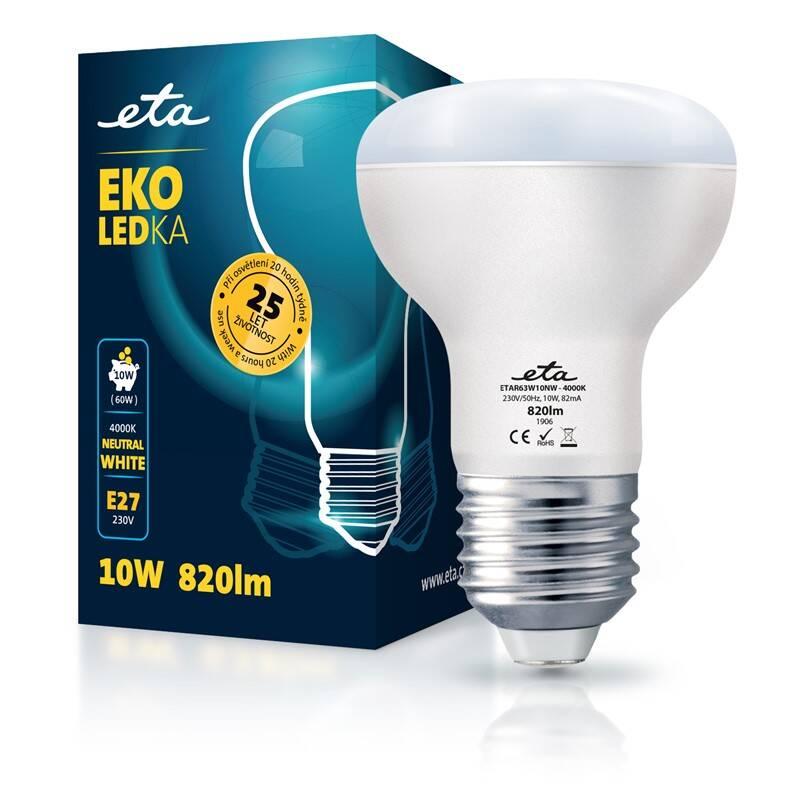 LED žiarovka ETA EKO LEDka reflektor 10W, E27, neutrálna biela (R63W10NW)