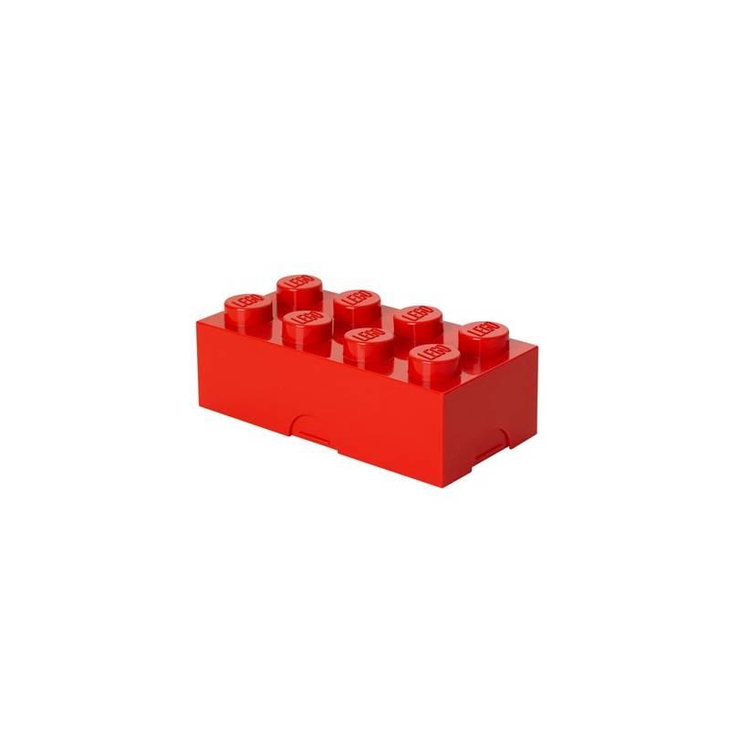 Box na desiatu LEGO® 100 x 200 x 75 mm červený + Doprava zadarmo