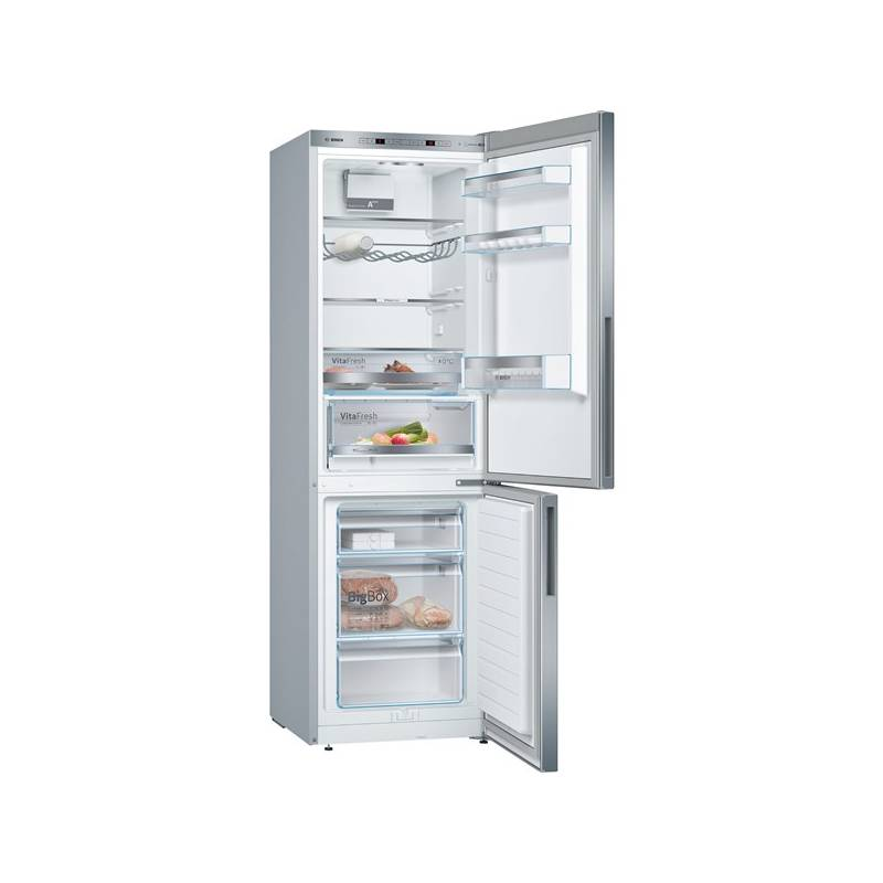Kombinácia chladničky s mrazničkou Bosch KGE36VL4A nerez + Doprava zadarmo