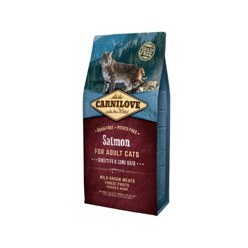 Granule Brit Carnilove Cat Salmon for Adult Sensitiv & LH 6 kg + Extra zľava 3 % | kód 3HOR2024