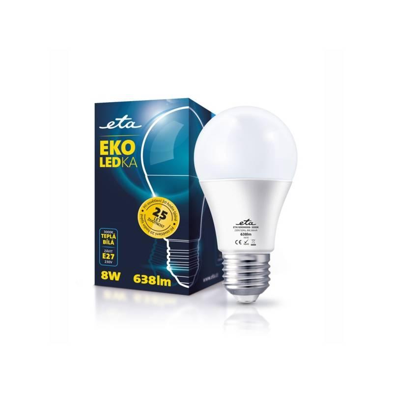 LED žiarovka ETA EKO LEDka klasik, 8W, E27, teplá bílá (A60-PR-638-16A)