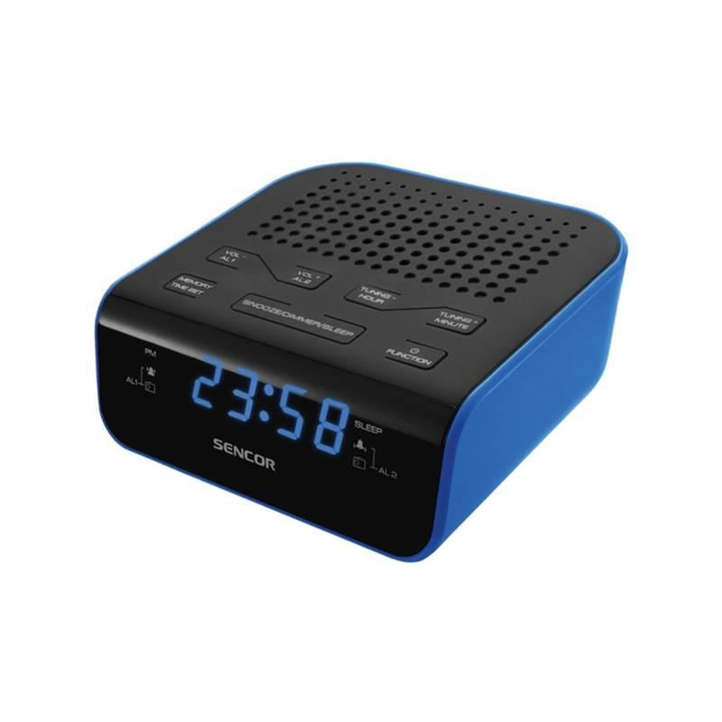 Rádiobudík Sencor SRC 136 BU čierny/modrý