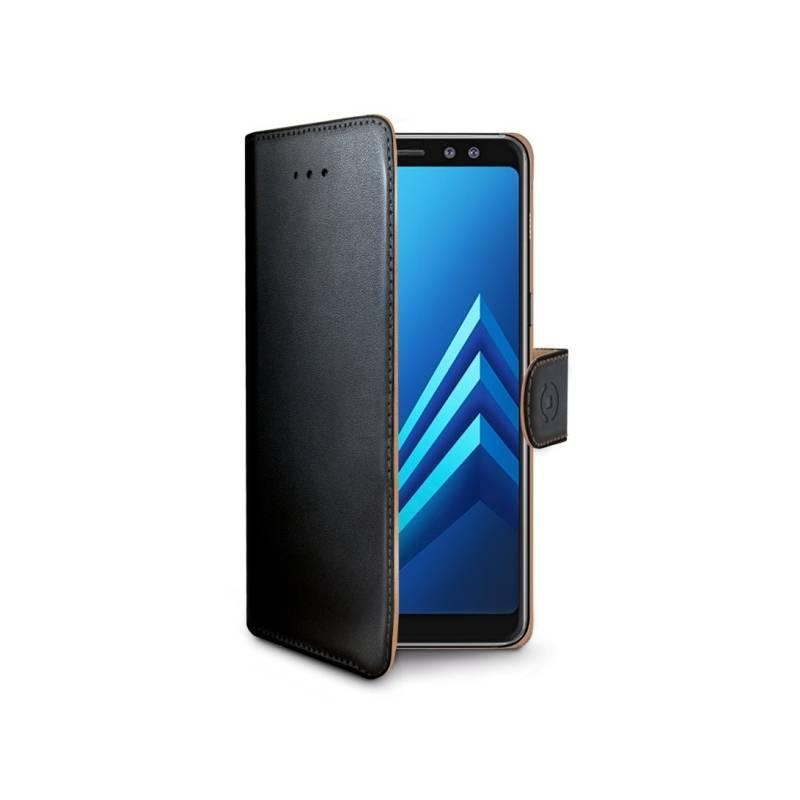 Puzdro na mobil flipové Celly Wally pro Samsung Galaxy A8 (2018) (WALLY705) čierne