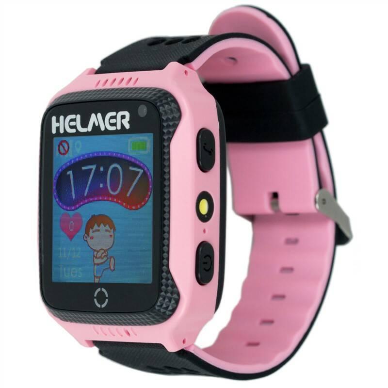 Chytré hodinky Helmer LK 707 dětské s GPS lokátorem (Helmer LK 707 P) růžový