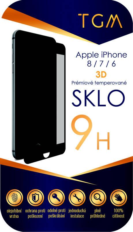 Ochranné sklo TGM 3D pro Apple iPhone 6/7/8 (TGM3DAPIP7/8BL) černé