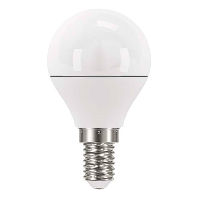 LED žiarovka EMOS mini globe, 6W, E14, studená bílá (1525731101)