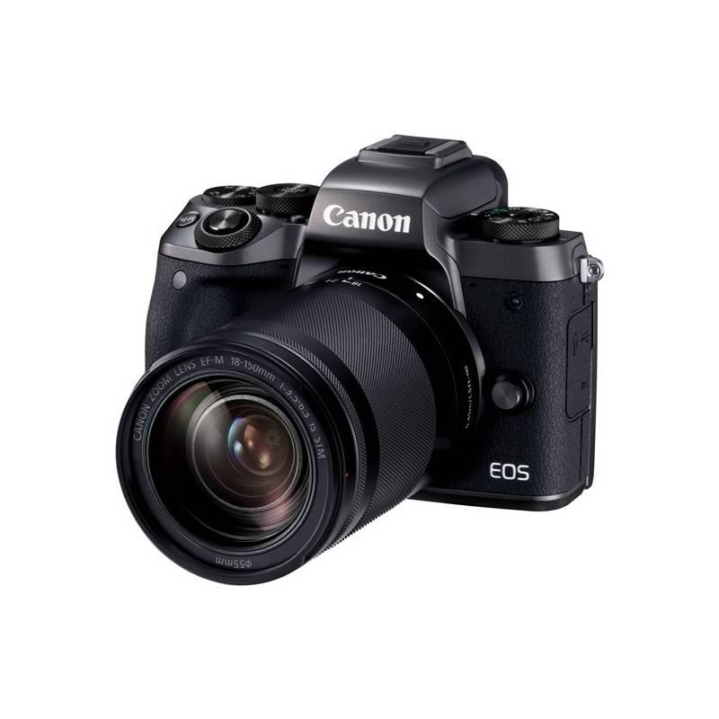 Digitálny fotoaparát Canon EOS M5 + 18-150mm IS STM (1279C022) čierny Paměťová karta Kingston SDXC 64GB UHS-I U1 (90R/45W) (zdarma) + Doprava zadarmo