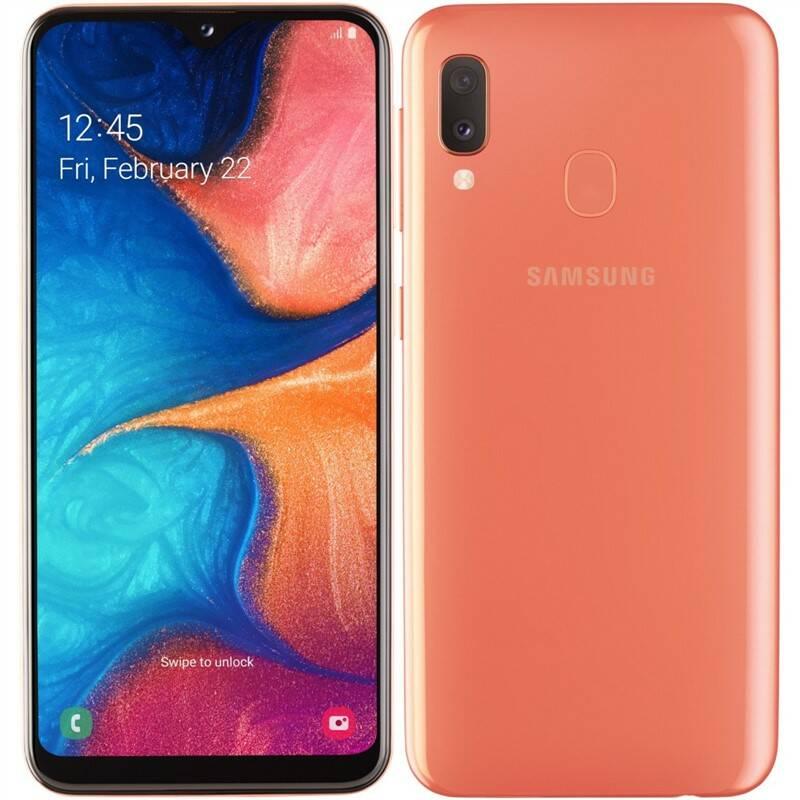 Mobilní telefon Samsung Galaxy A20e Dual SIM (SM-A202FZODXEZ) oranžový