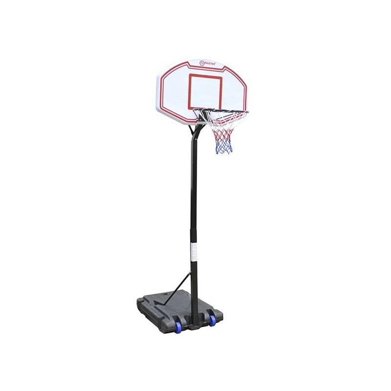 Basketbalový kôš Master Basket Starter 91 x 61 cm čierny/biely/červený