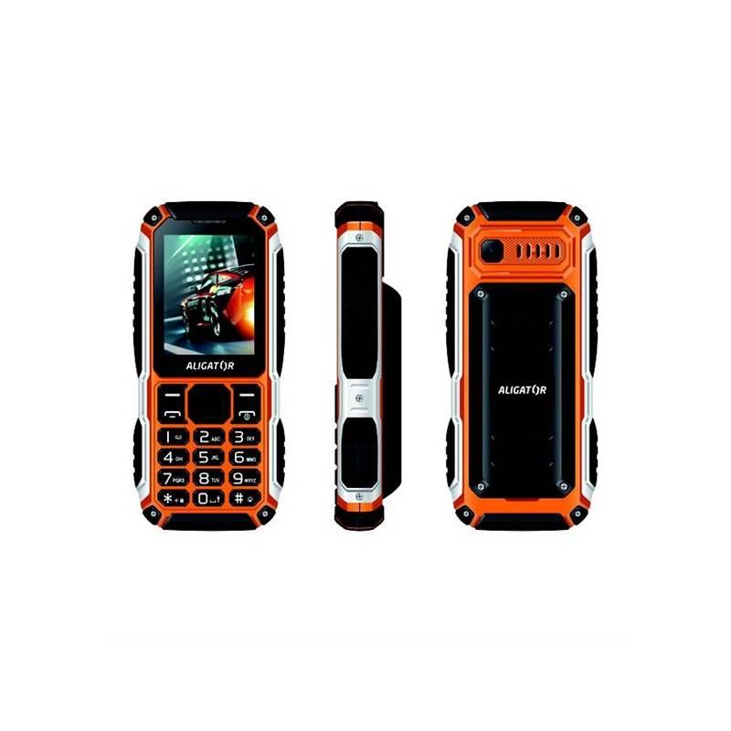 Mobilný telefón Aligator R30 eXtremo (AR30BO) čierny/oranžový