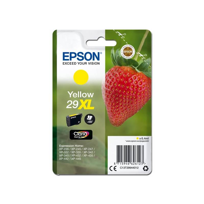 Inkoustová náplň Epson T29XL, 450 stran (C13T29944010) žlutá