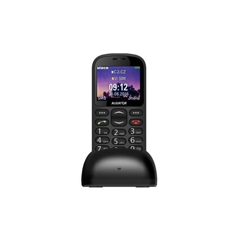 Mobilný telefón Aligator A880 GPS Senior (A880BK) čierny