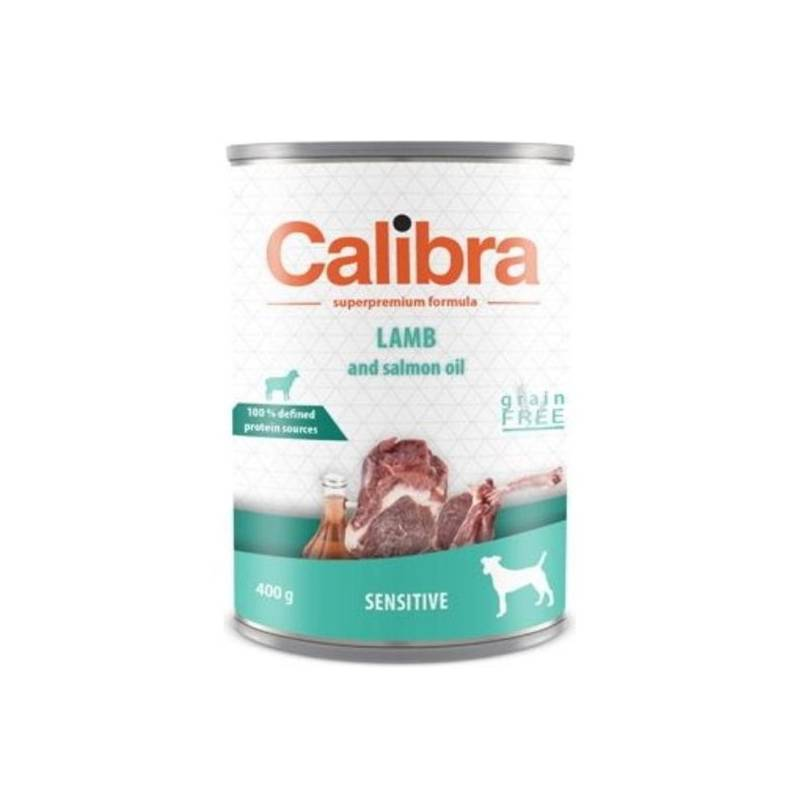Konzerva Calibra Dog Sensitive jehněčí 400 g