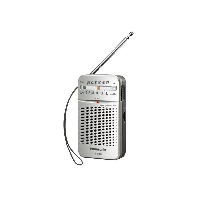 Radiopřijímač Panasonic RF-P50DEG-S (RF-P50DEG-S) stříbrný