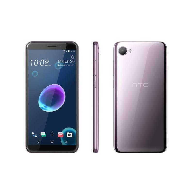 Mobilný telefón HTC Desire 12 Dual SIM (99HAPD005-00) strieborný/fialový Software F-Secure SAFE, 3 zařízení / 6 měsíců (zdarma) + Doprava zadarmo