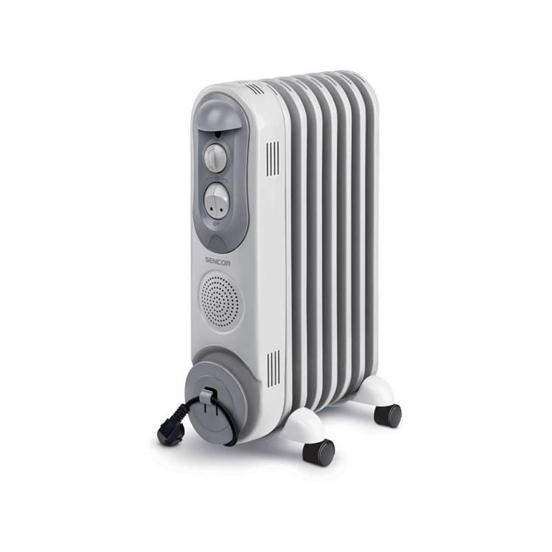 Olejový radiátor Sencor SOH 4007BE sivý/biely