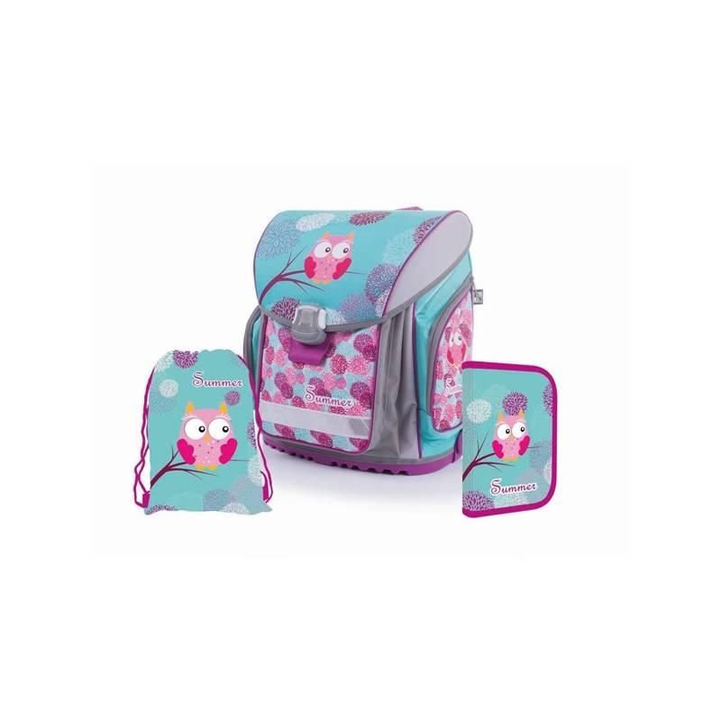 Školský set P + P Karton PREMIUM FLEXI Owl/Sova Sáček na přezůvky P + P Karton OXY Neon Dark Blue (zdarma)