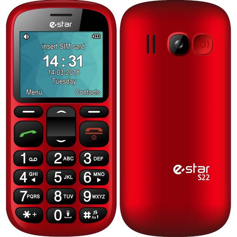 Mobilní telefon eStar S22 (EST000026) červený